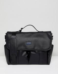 Черная сумка почтальона Peter Werth - Черный
