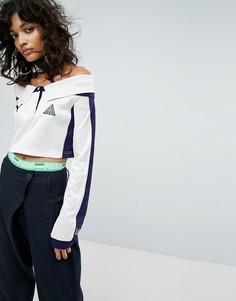 Трикотажная футболка с открытыми плечами и воротником Puma X Fenty - Кремовый