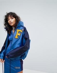 Атласная спортивная куртка с капюшоном Puma X Fenty - Синий