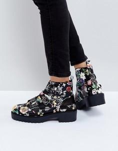 Ботинки с пряжками ASOS ALINA - Мульти