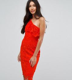 Кружевное платье на одно плечо Paper Dolls Tall - Красный