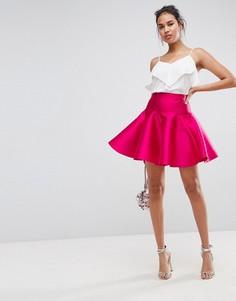 Пышная мини-юбка для выпускного ASOS - Розовый