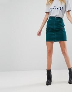 Зеленая вельветовая юбка ASOS - Зеленый