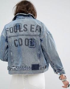 Джинсовая куртка с асимметричным краем One Teaspoon - Синий