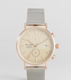 Часы с хронографом Reclaimed Vintage Inspired эксклюзивно для ASOS - 36 мм - Серебряный