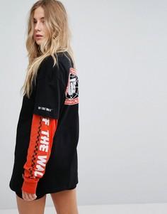 Черная футболка с короткими рукавами Vans Sole - Черный