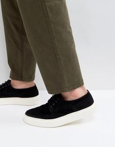 Черные замшевые броги в стиле casual от ASOS - Черный