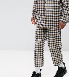 Свободные фланелевые брюки в клетку Reclaimed Vintage Inspired - Желтый