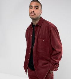 Вельветовая оверсайз-рубашка Reclaimed Vintage Inspired - Красный