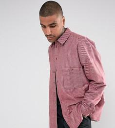 Полосатая рубашка-оверсайз классического кроя Reclaimed Vintage Inspired - Красный