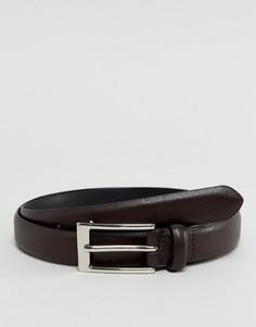 Узкий коричневый ремень Ben Sherman - Коричневый