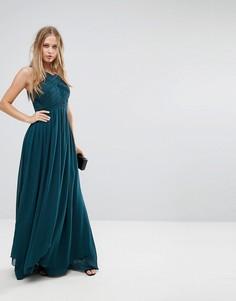 Платье макси с завязкой на шее Y.A.S - Зеленый