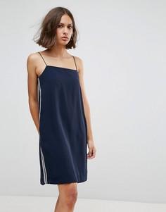 Платье с высоким воротом Wood Wood Carly - Темно-синий