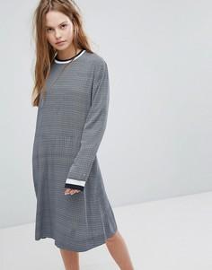 Трикотажное платье с полосками Wood Wood Pillar - Синий