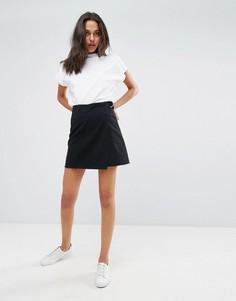 Джинсовая юбка с необработанным краем Dr Denim - Черный