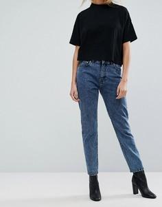 Прямые джинсы с завышенной талией Dr Denim - Синий
