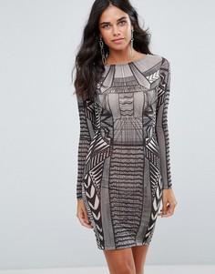 Облегающее платье мини с узором Forever Unique - Мульти