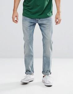 Выбеленные джинсы суженного книзу кроя Wrangler Boyton - Синий