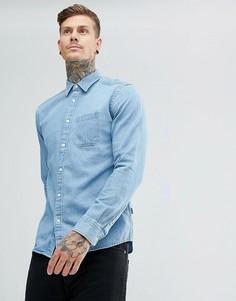 Джинсовая рубашка цвета индиго Wrangler - Синий