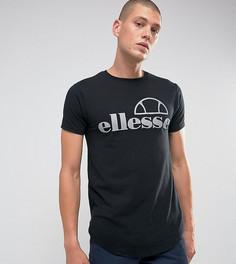 Обтягивающая футболка со светоотражающим логотипом Ellesse - Черный