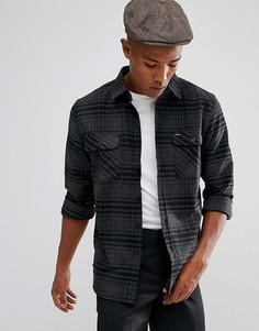 Серая фланелевая рубашка в клетку Brixton Bowery - Серый