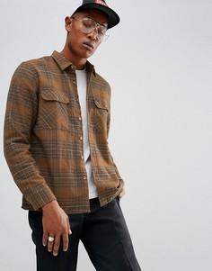 Фланелевая рубашка в клетку Brixton Archie - Коричневый