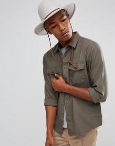 Свободная рубашка Brixton Nevada - Зеленый