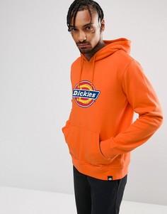 Худи оранжевого цвета с большим логотипом Dickies Nevada - Оранжевый