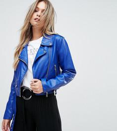 Байкерская куртка из искусственной кожи PrettyLittleThing - Синий