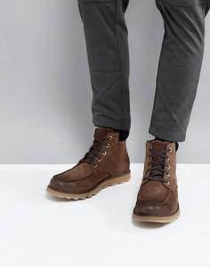 Водонепроницаемые ботинки со строчкой на носке Sorel Madson - Коричневый