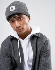 Серая шапка-бини с логотипом Element - Серый