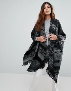 Куртка с узором и шалевым воротником Vero Moda - Черный