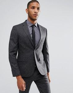 Приталенный пиджак Moss London - Серый