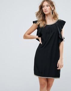 Коктейльное платье с оборкой Deby Debo - Черный