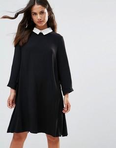 Платье А-силуэта с округлым воротником FRNCH - Черный