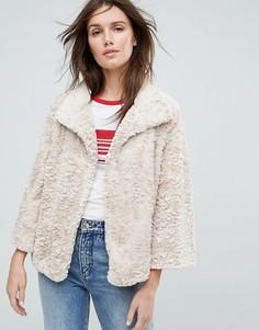 Укороченная куртка с искусственным мехом Jayley - Кремовый