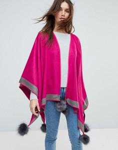 Пончо из кашемира и шелка Jayley - Розовый