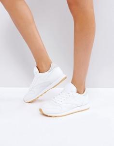 Классические кожаные стеганые кроссовки Reebok - Белый
