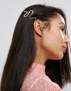 Заколка для волос со змеей Orelia - Золотой