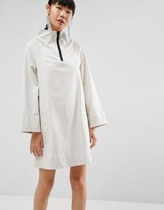 Платье с воротником-стойкой ASOS WHITE - Светло-серый