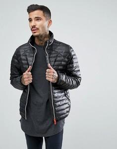 Черная дутая куртка Hunter - Черный