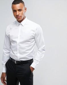Строгая рубашка узкого кроя из немнущейся ткани Jack & Jones Premium - Белый