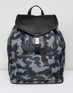 Рюкзак из нейлона и кожи Smith And Canova - Зеленый