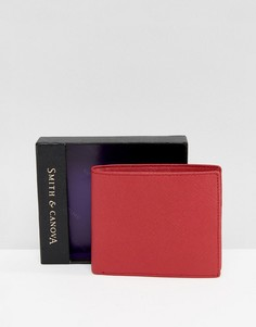 Красный кожаный бумажник Smith And Canova - Красный