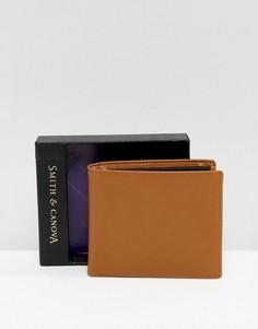 Кожаный бумажник желтовато-коричневого цвета Smith And Canova - Рыжий