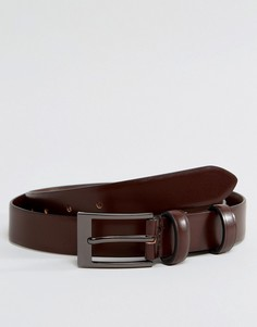 Узкий коричневый кожаный ремень Smith And Canova - Коричневый