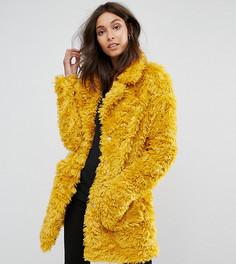 Шуба из искусственного меха Glamorous Tall - Желтый