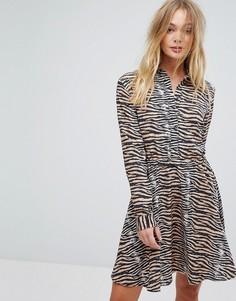 Платье с тигровым принтом Supertrash Dars - Мульти