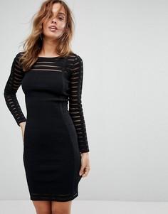 Облегающее платье в рубчик Supertrash - Черный