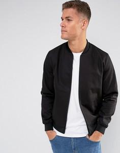 Черная строгая куртка-пилот ASOS - Черный